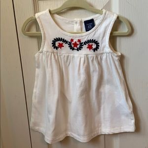 Baby Gap 4th of July embroidered top